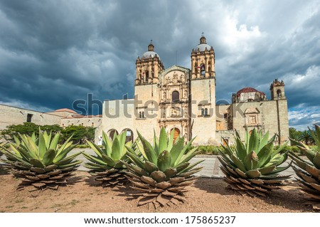 Church of Santo Domingo de Guzman in Oaxaca, Mexico - stock photo