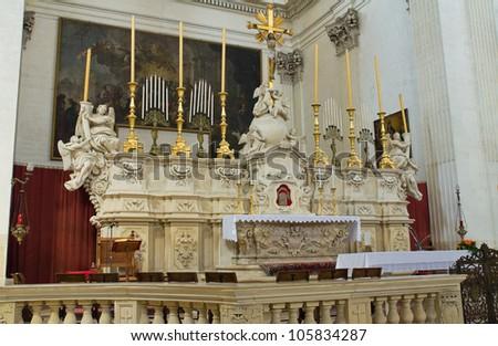 Church of St. Irene. Lecce. Puglia. Italy. - stock photo