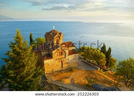 Church of St. John at Kaneo. Ohrid, Macedonia - stock photo