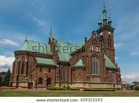 Church of St. John Baptist in Sokolow Malopolski, Poland - stock photo