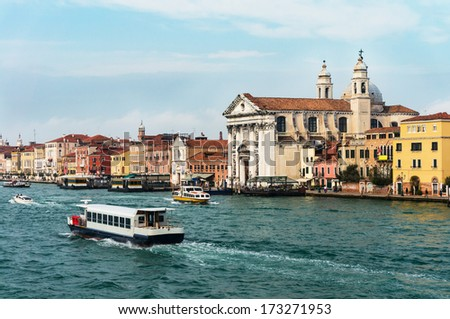 Church of St Mary of The Rosary (Sta Maria del Rosario) in Venice - stock photo