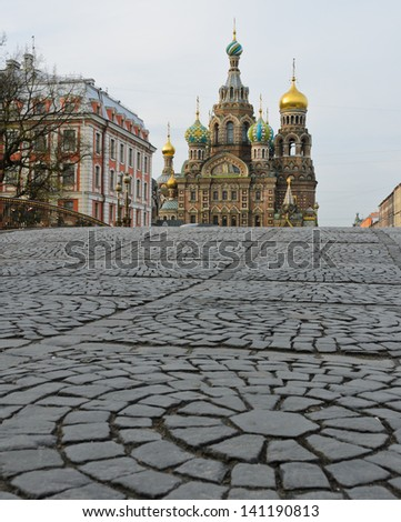 Church of the Savior on Spilled Blood in St.Petersburg, Russia - stock photo