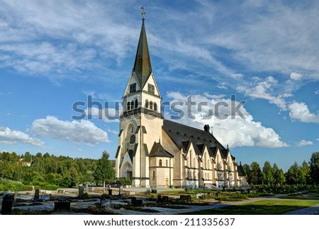 Church of Vindeln - Lapland, Sweden - stock photo