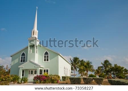 Church on Little Cayman Island - stock photo