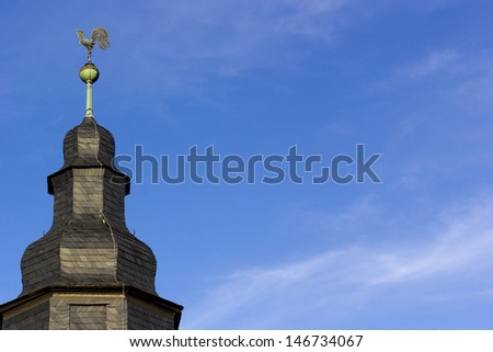 Church rooftop  - stock photo