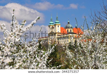 Church Saint Hill near Olomouc, Czech - stock photo