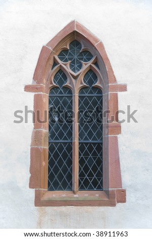 Church window in Basel, Switzerland - stock photo