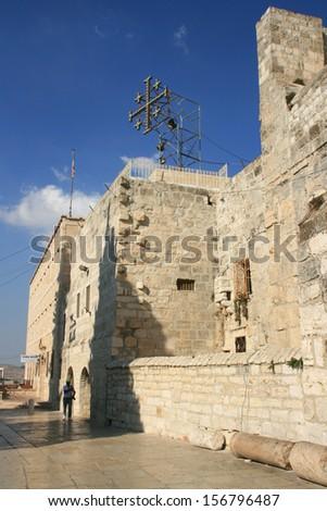 Churh of nativity in Bethlehem. - stock photo