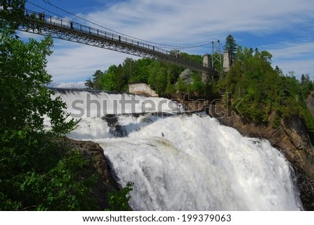 Chute Montmorency waterfall, Quebec, Canada - stock photo
