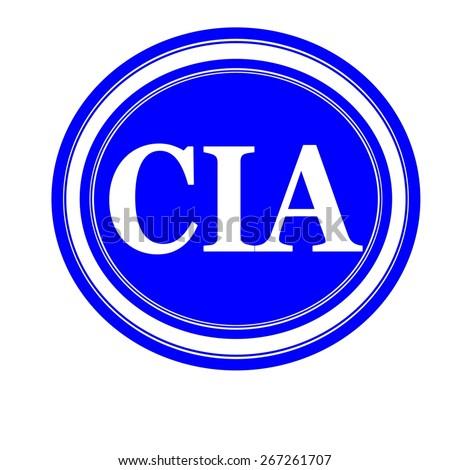 Cia white stamp text on blue - stock photo