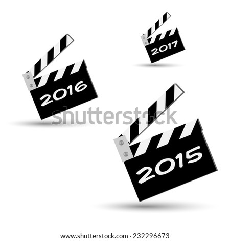 ciack new years - stock photo