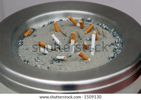 Cigarette butts. - stock photo
