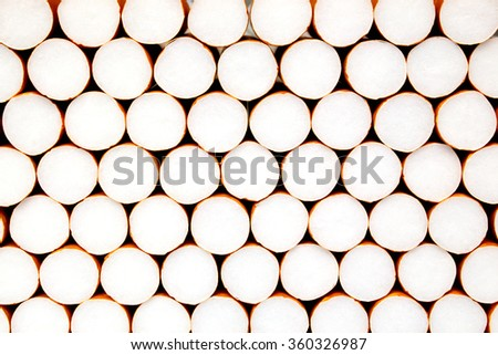 Cigarette filters background - stock photo