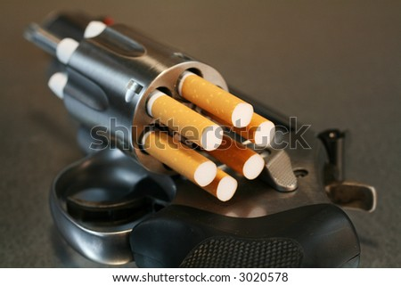 Cigarette Revolver - stock photo