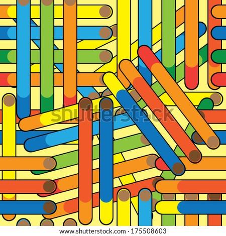 cigarette seamless multicolored pattern  - stock photo