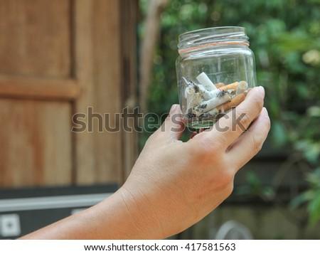 cigarette stub no.3 - stock photo