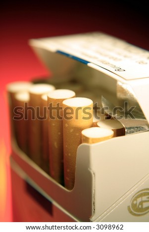 Cigarettes in pack - stock photo