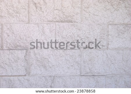 Cinder wall - stock photo