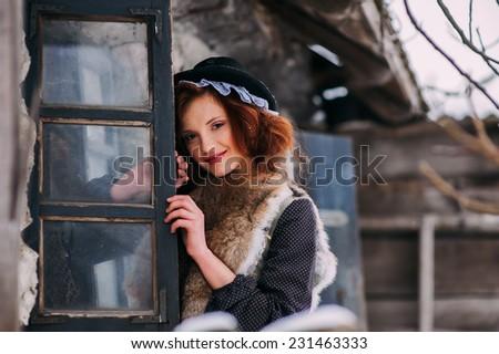 Cinderella, winter day - stock photo