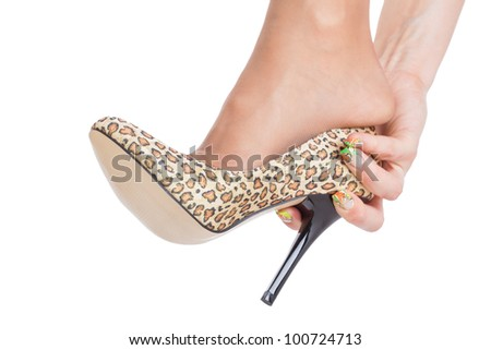 Cinderellas shoe concept - stock photo