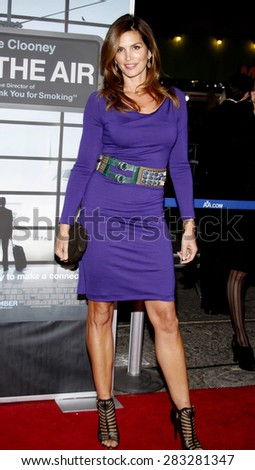 Cindy Crawford at the Los Angeles premiere of 'Up In The Air' held at the Mann Village Theatre in Westwood on November 30, 2009.  - stock photo