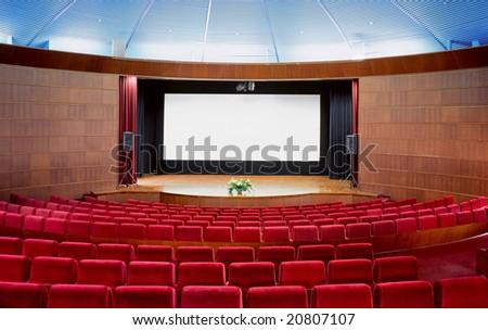 Cinema auditorium - stock photo