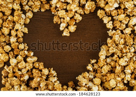 Cinema. Delicious popcorn on the table - stock photo