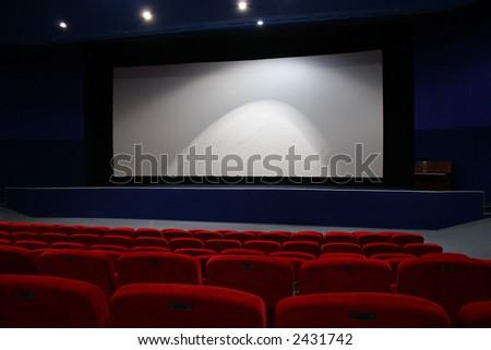 cinema interior - stock photo