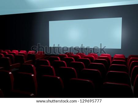 CINEMA - LOOK A MOVIE - 3D - stock photo