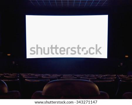Cinema screen - stock photo