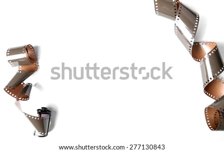 Cinematography. Vintage tape on a white background - stock photo