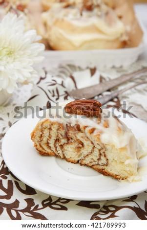 Cinnamon Bun - stock photo