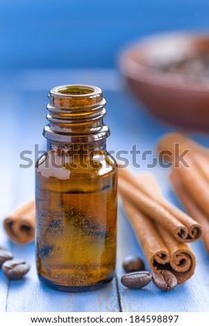 Cinnamon oil - stock photo