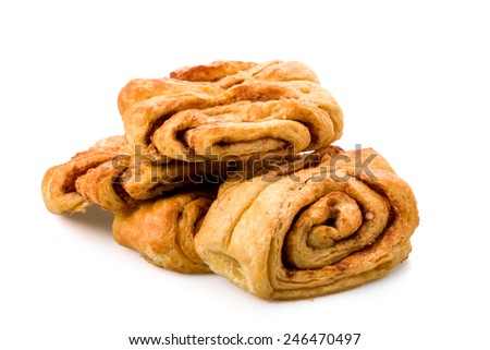 Cinnamon rolls flavored with fresh honey on underground - stock photo