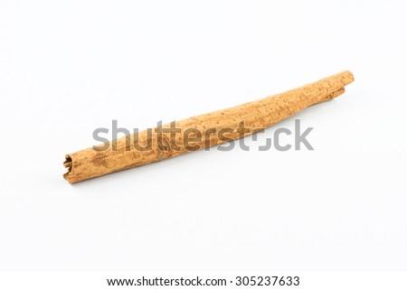 Cinnamon sticks on white background - stock photo
