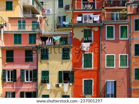 Cinque Terre Riomaggiore  - stock photo
