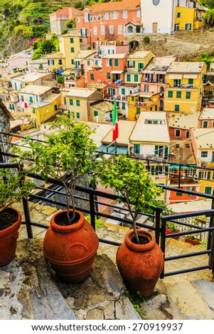 Cinque Terre, Vernazza - Italy - stock photo