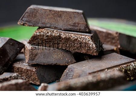 Cioccolato di Modica (Chocolate of Modica) sicilian specialty - stock photo