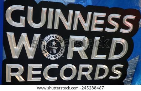 "CIRCA NOVEMBER 2014 - BERLIN: the logo of the brand ""Guiness World Records"", Berlin. - stock photo"