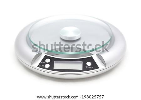 circle digital scale isolated on white background. - stock photo