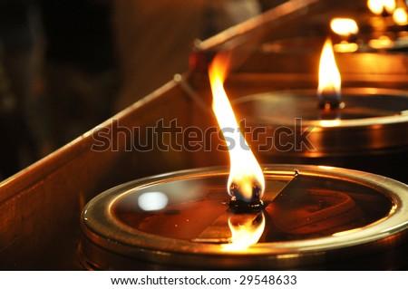 Circle Lamp Light Oil - stock photo