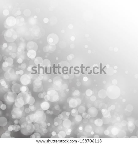 Circle light on gray background, abstract light background - stock photo