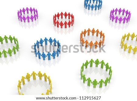 Circle of people - stock photo