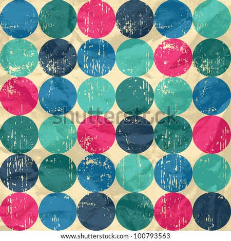 Circle pattern on crumpled paper background. Seamless pattern can be used for wallpaper, pattern fills, web page background,surface textures. Gorgeous seamless background - stock photo
