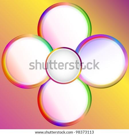 circle presentation - stock photo