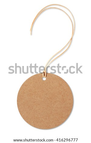 Circle tag label isolated on a white background,This has a clipping path. - stock photo
