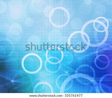 Circles Blue Abstract Background - stock photo