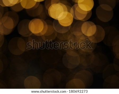 circles of bright lights in in the dark - stock photo