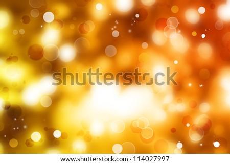 Circles on yellow and orange tone background. - stock photo