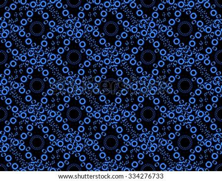 Circles seamless pattern. Raster version - stock photo